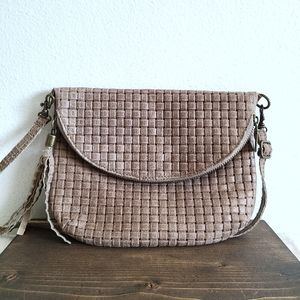 Borse In Pelle Leather Woven Crossbody Bag Purse